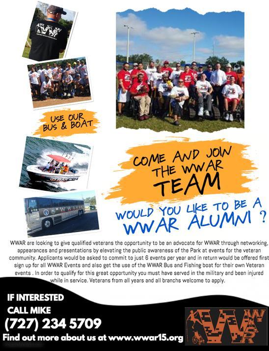 WWAR Alumni Flier